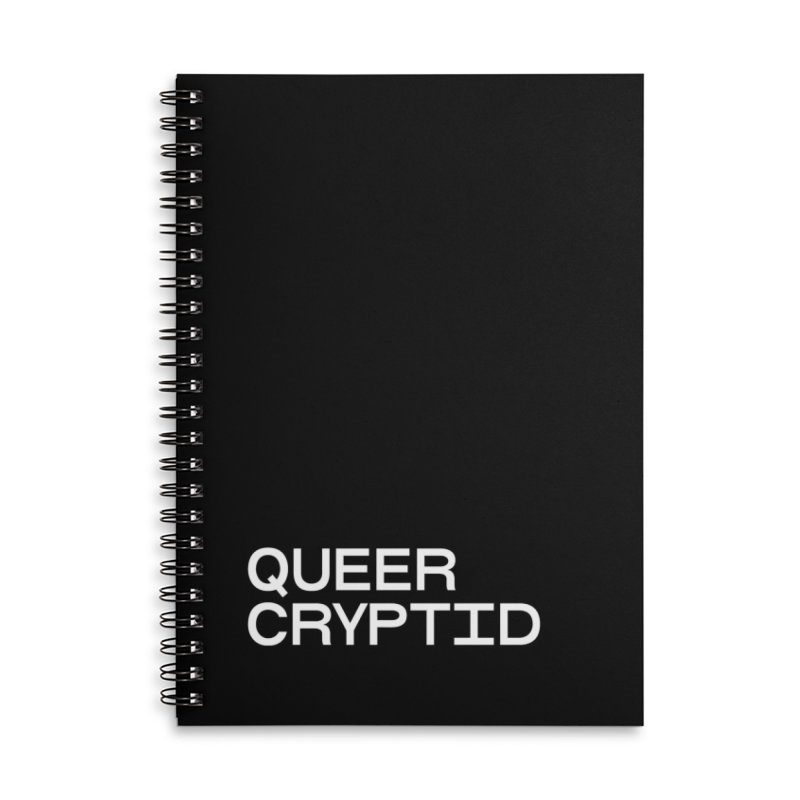 Queer Cryptid (sans) wht Accessories Lined Spiral Notebook by VOID MERCH