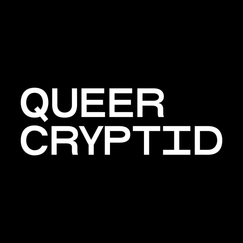 Queer Cryptid (sans) wht by VOID MERCH
