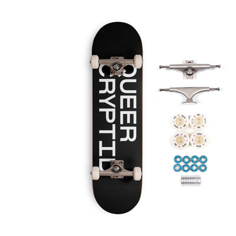 Queer Cryptid (sans) wht Accessories Complete - Premium Skateboard by VOID MERCH