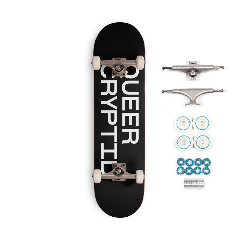 Queer Cryptid (sans) wht Accessories Complete - Basic Skateboard by VOID MERCH