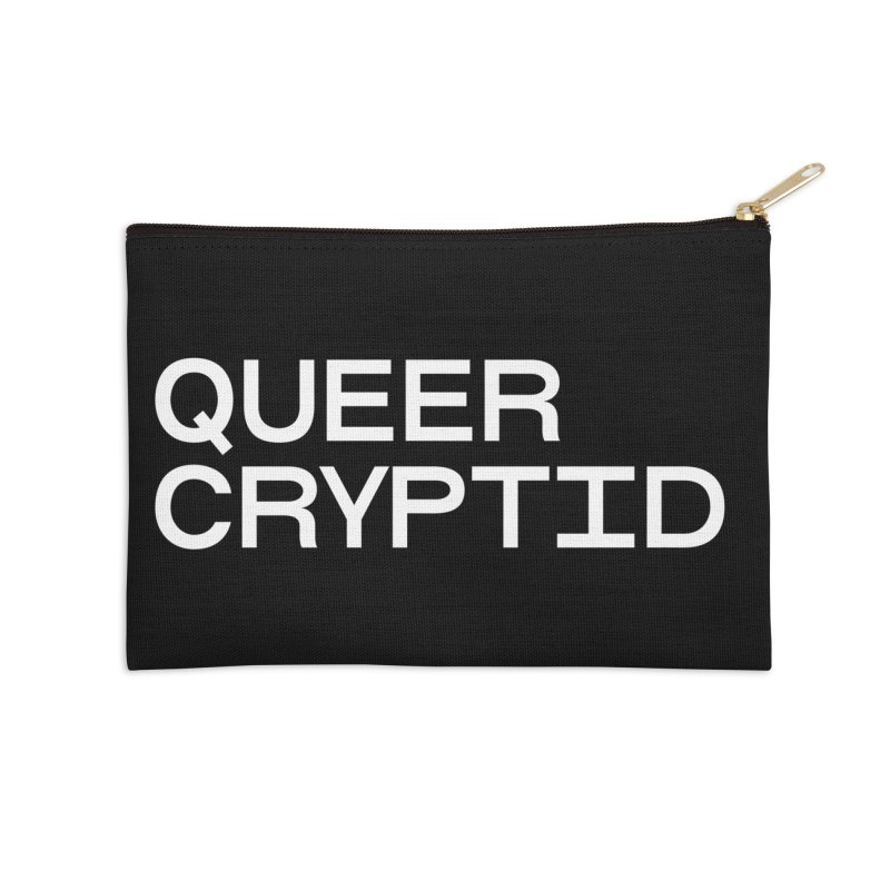 Queer Cryptid (sans) wht Accessories Zip Pouch by VOID MERCH