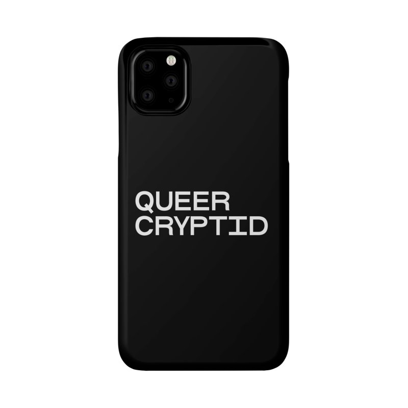 Queer Cryptid (sans) wht Accessories Phone Case by VOID MERCH