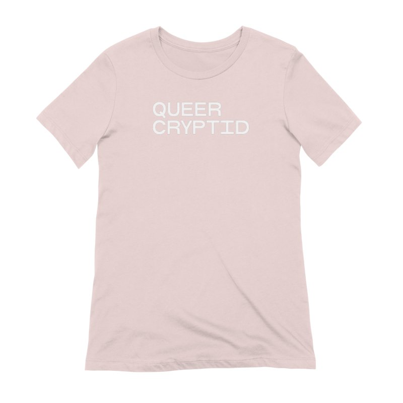 Queer Cryptid (sans) wht Women's Extra Soft T-Shirt by VOID MERCH