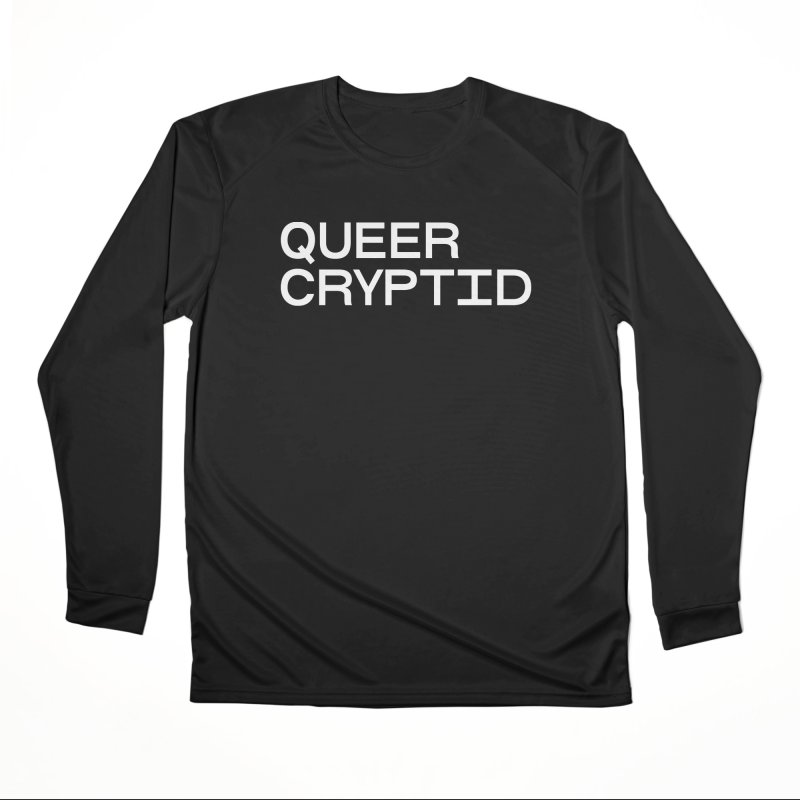Queer Cryptid (sans) wht Men's Performance Longsleeve T-Shirt by VOID MERCH