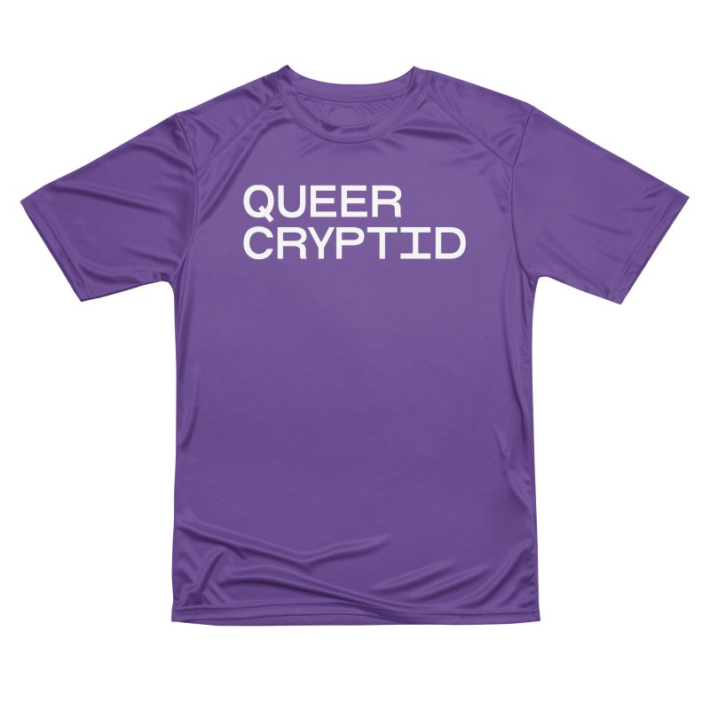Queer Cryptid (sans) wht Men's Performance T-Shirt by VOID MERCH