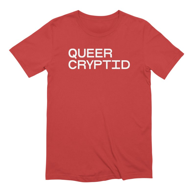 Queer Cryptid (sans) wht Men's Extra Soft T-Shirt by VOID MERCH