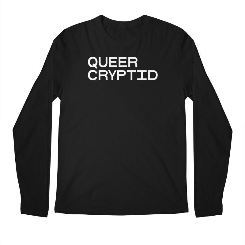 Queer Cryptid (sans) wht Men's Regular Longsleeve T-Shirt by VOID MERCH