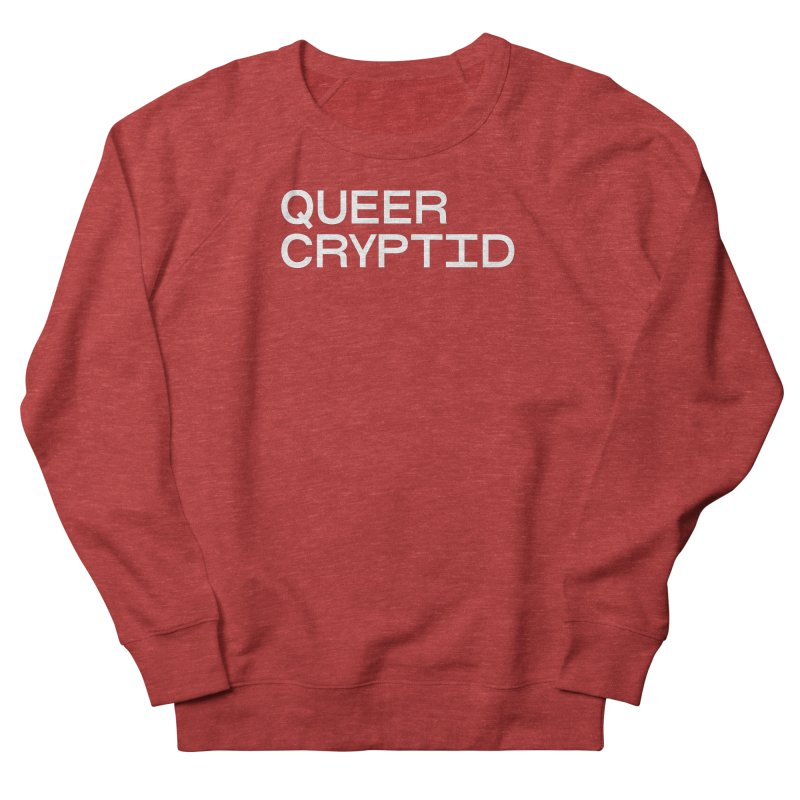 Queer Cryptid (sans) wht Women's French Terry Sweatshirt by VOID MERCH