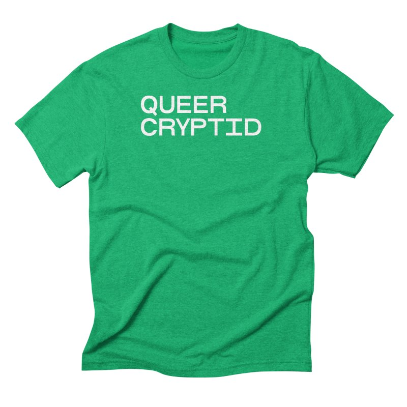 Queer Cryptid (sans) wht Men's Triblend T-Shirt by VOID MERCH