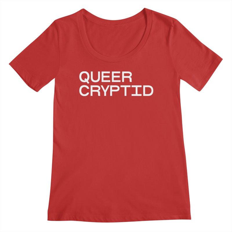 Queer Cryptid (sans) wht Women's Regular Scoop Neck by VOID MERCH