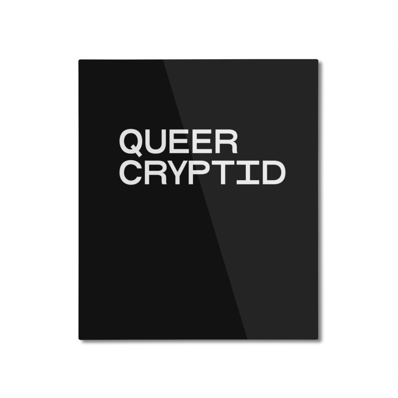 Queer Cryptid (sans) wht Home Mounted Aluminum Print by VOID MERCH