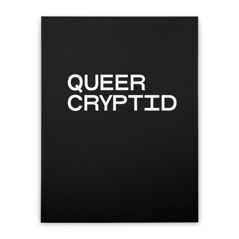 Queer Cryptid (sans) wht Home Stretched Canvas by VOID MERCH