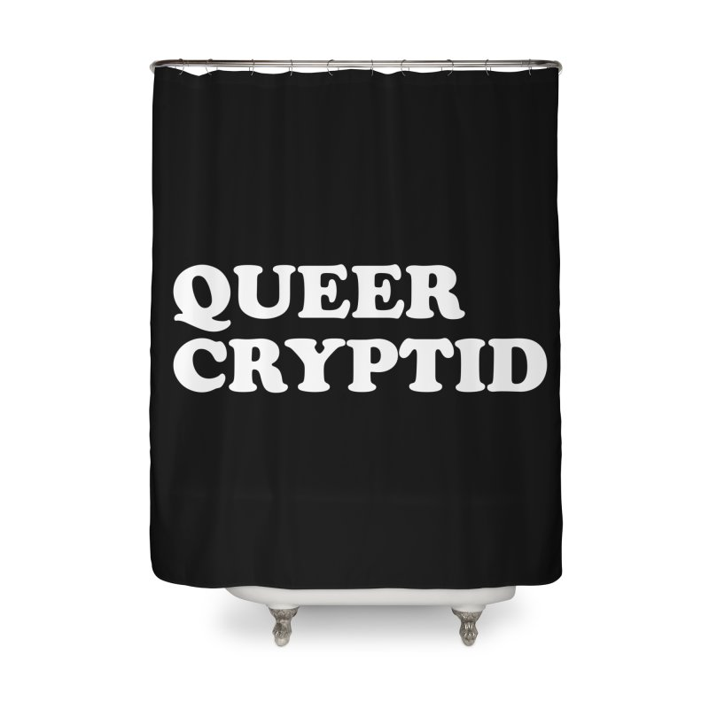 Queer Cryptid (Cooper) wht Home Shower Curtain by VOID MERCH