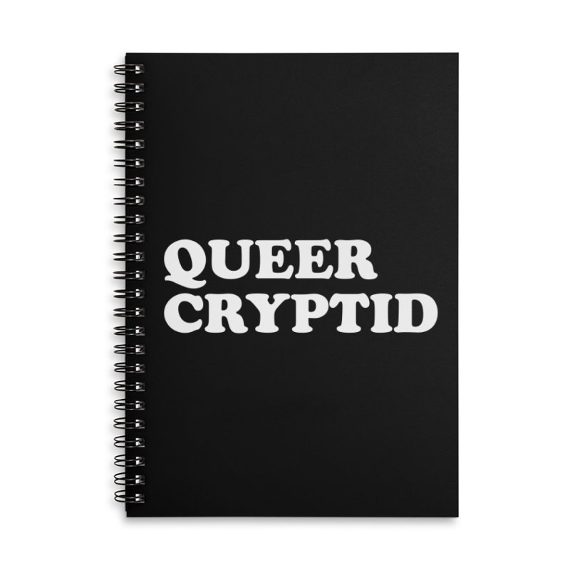 Queer Cryptid (Cooper) wht Accessories Lined Spiral Notebook by VOID MERCH