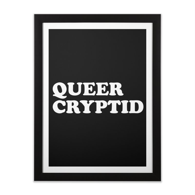 Queer Cryptid (Cooper) wht Home Framed Fine Art Print by VOID MERCH