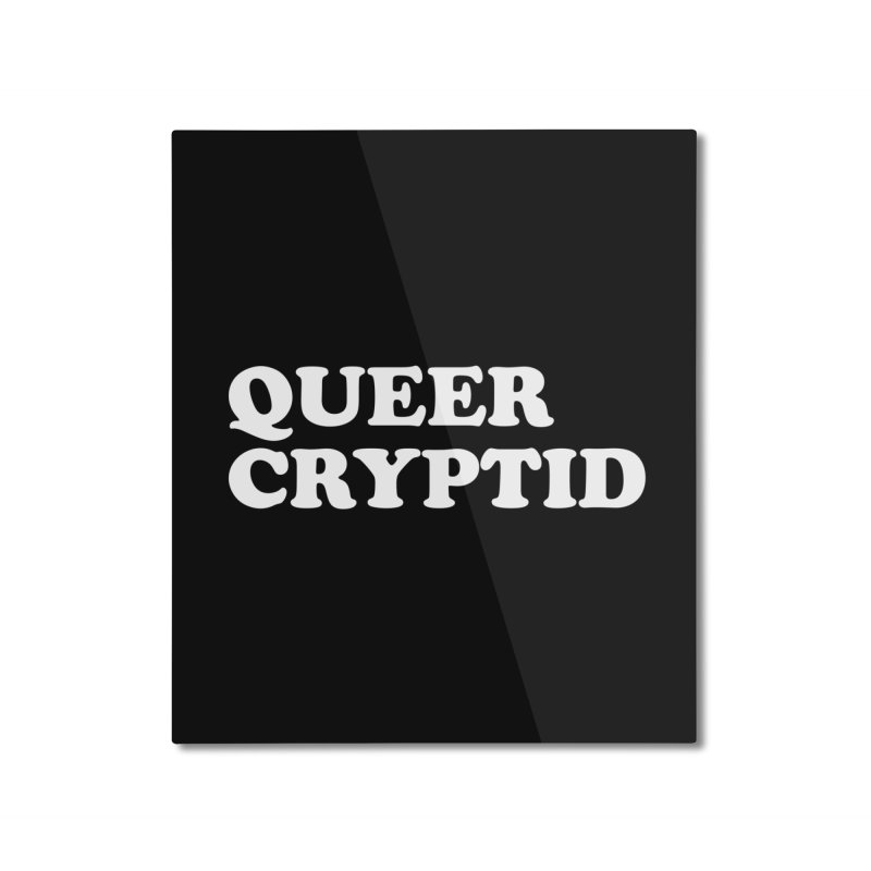 Queer Cryptid (Cooper) wht Home Mounted Aluminum Print by VOID MERCH