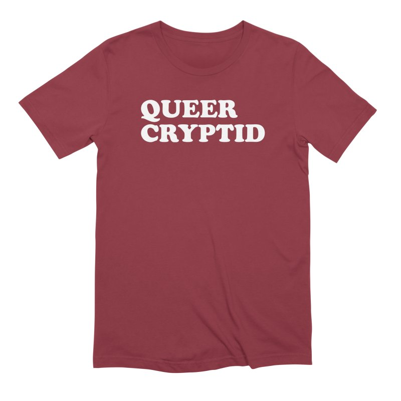 Queer Cryptid (Cooper) wht Men's Extra Soft T-Shirt by VOID MERCH