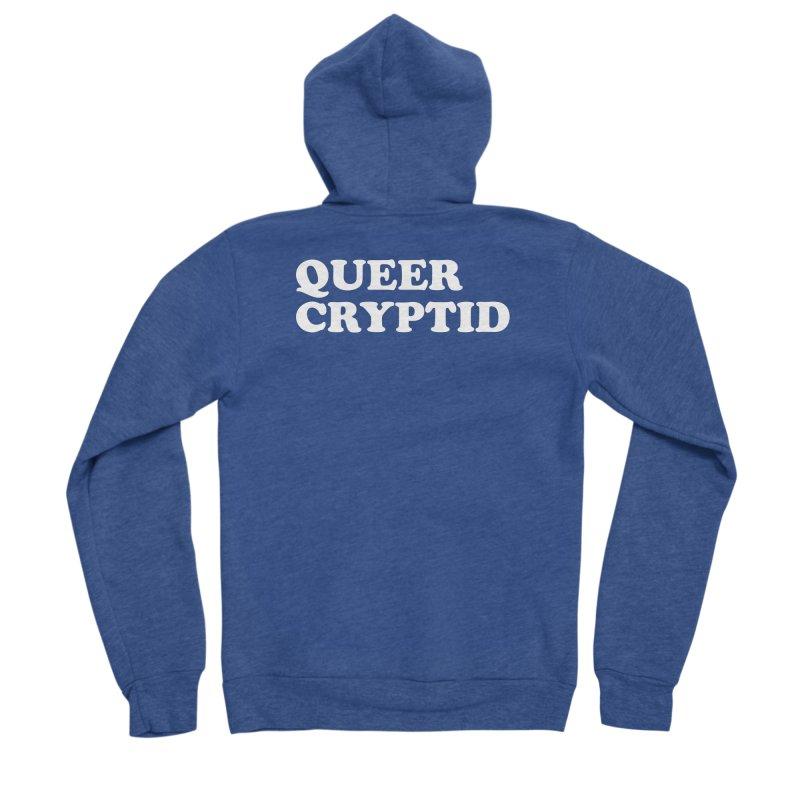 Queer Cryptid (Cooper) wht Women's Sponge Fleece Zip-Up Hoody by VOID MERCH