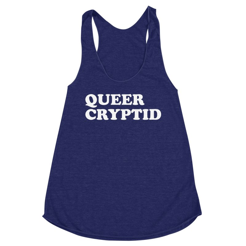 Queer Cryptid (Cooper) wht Women's Racerback Triblend Tank by VOID MERCH