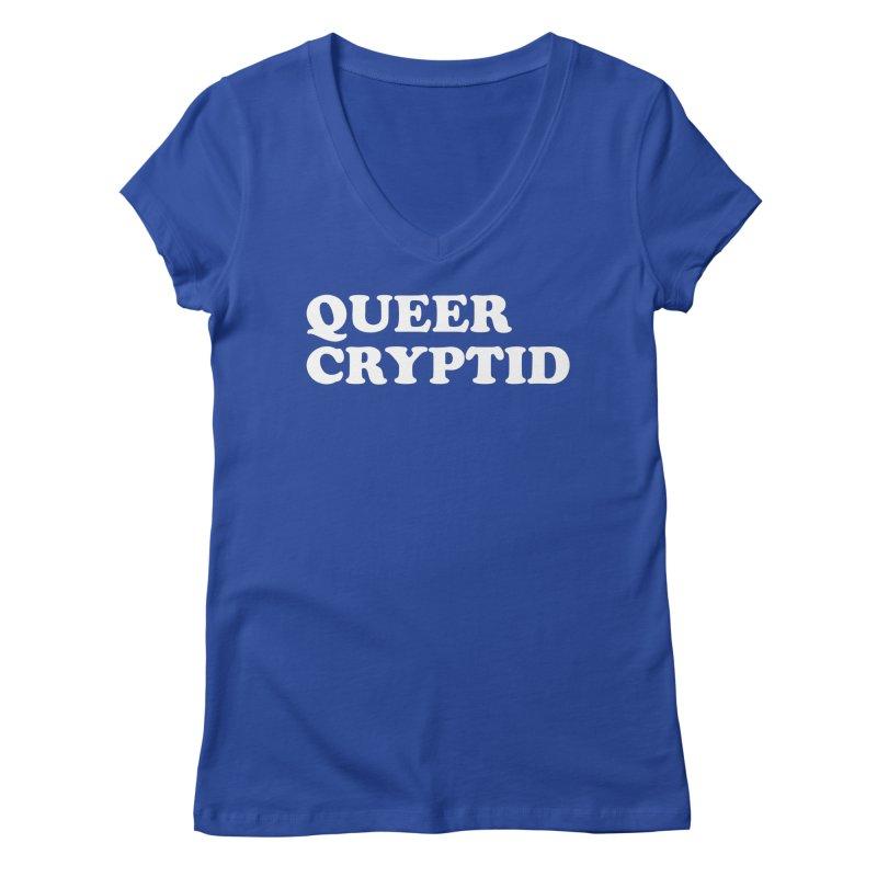 Queer Cryptid (Cooper) wht Women's Regular V-Neck by VOID MERCH