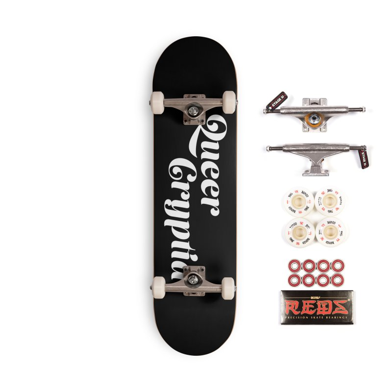 Queer Cryptid (script) wht Accessories Complete - Pro Skateboard by VOID MERCH