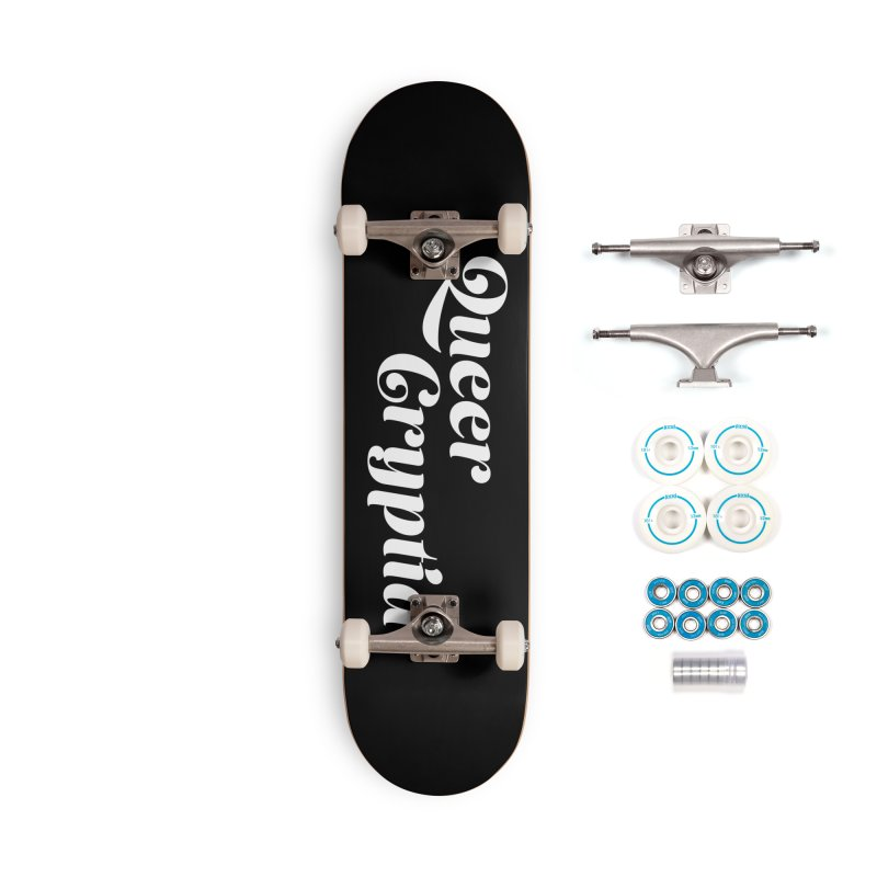 Queer Cryptid (script) wht Accessories Complete - Basic Skateboard by VOID MERCH