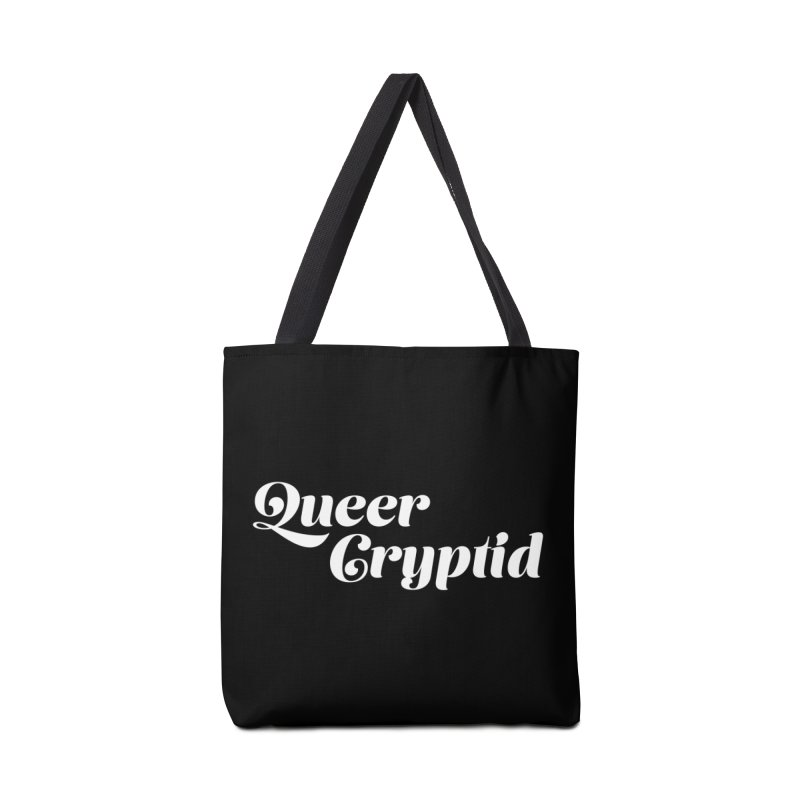 Queer Cryptid (script) wht Accessories Tote Bag Bag by VOID MERCH