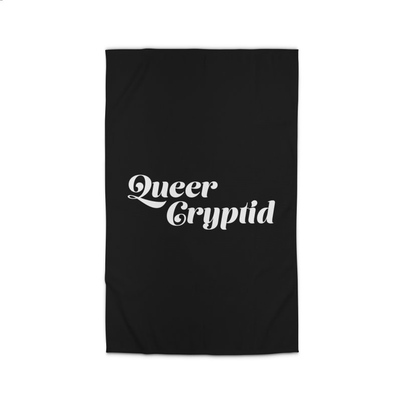 Queer Cryptid (script) wht Home Rug by VOID MERCH
