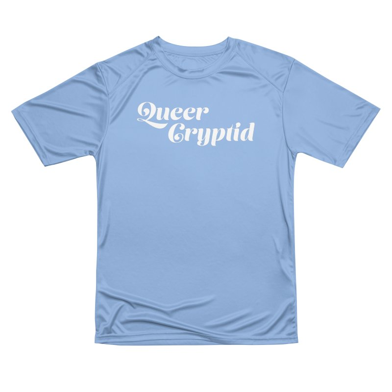 Queer Cryptid (script) wht Men's Performance T-Shirt by VOID MERCH