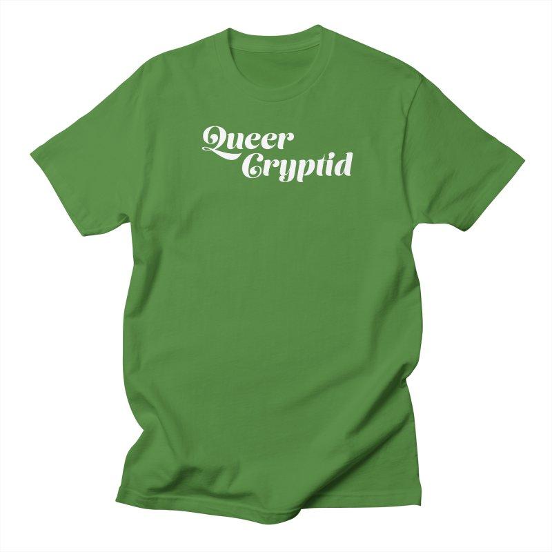Queer Cryptid (script) wht Women's Regular Unisex T-Shirt by VOID MERCH