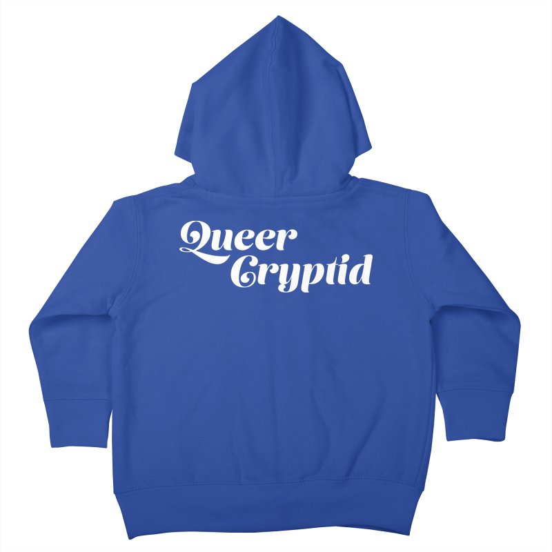 Queer Cryptid (script) wht Kids Toddler Zip-Up Hoody by VOID MERCH