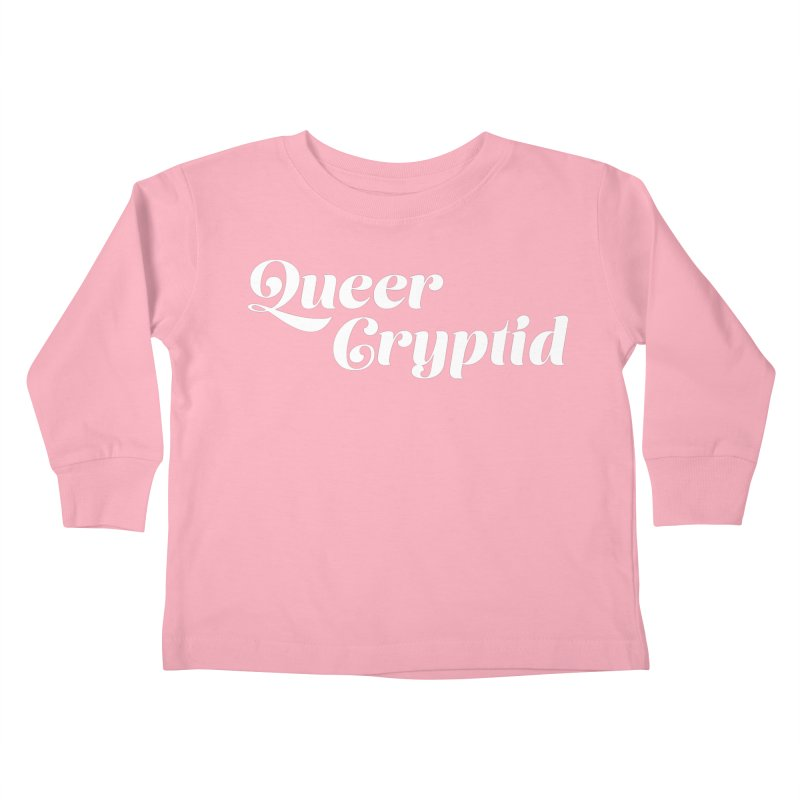 Queer Cryptid (script) wht Kids Toddler Longsleeve T-Shirt by VOID MERCH