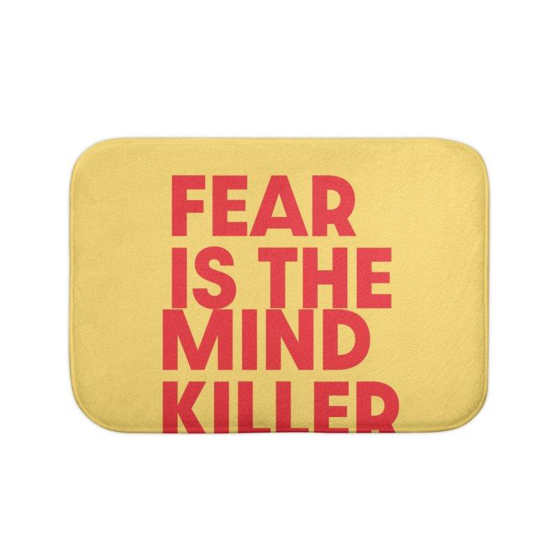 FEAR IS THE MIND KILLER (rd) Home Bath Mat by VOID MERCH