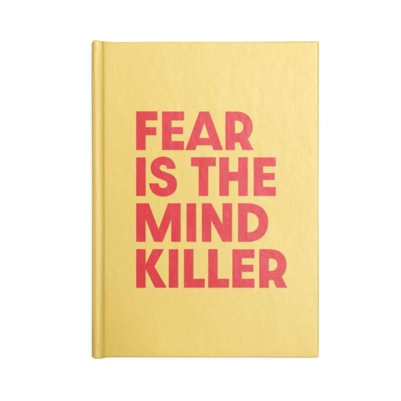FEAR IS THE MIND KILLER (rd) Accessories Blank Journal Notebook by VOID MERCH