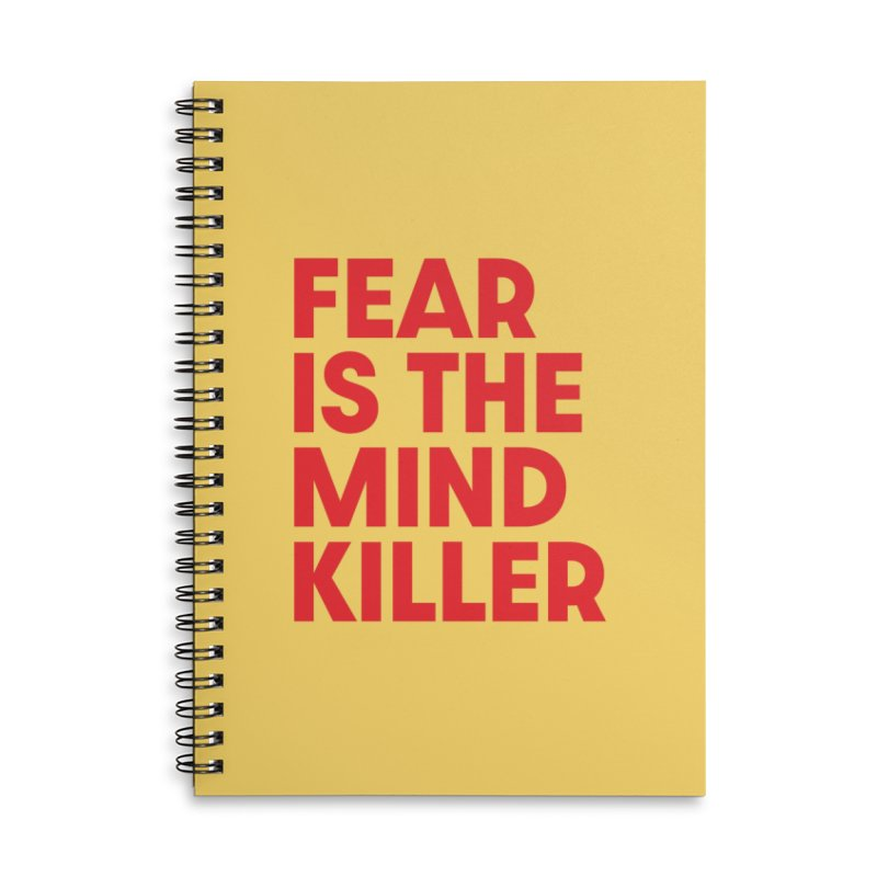 FEAR IS THE MIND KILLER (rd) Accessories Lined Spiral Notebook by VOID MERCH