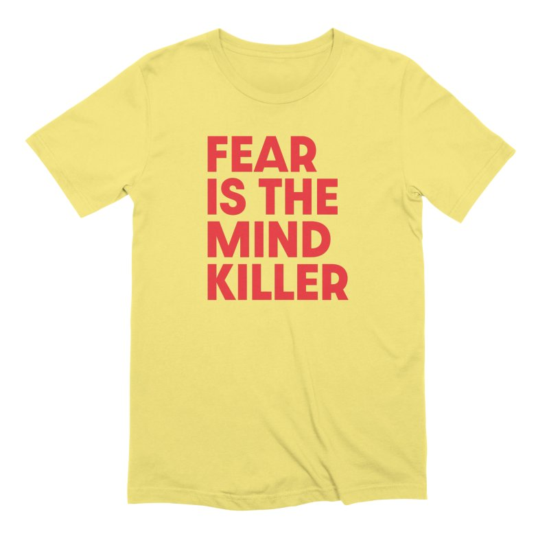 FEAR IS THE MIND KILLER (rd) in Men's Extra Soft T-Shirt Light Yellow by VOID MERCH