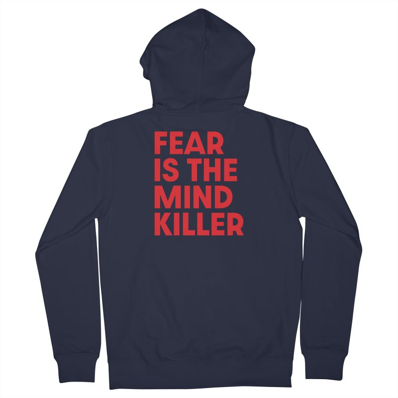 FEAR IS THE MIND KILLER (rd) Men's French Terry Zip-Up Hoody by VOID MERCH