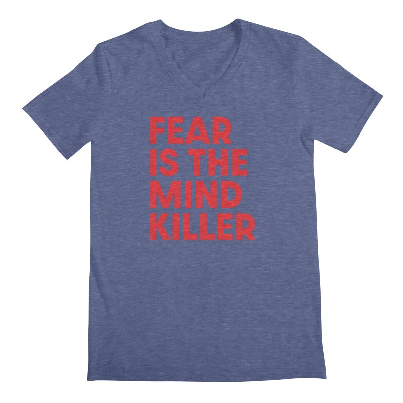 FEAR IS THE MIND KILLER (rd) Men's Regular V-Neck by VOID MERCH
