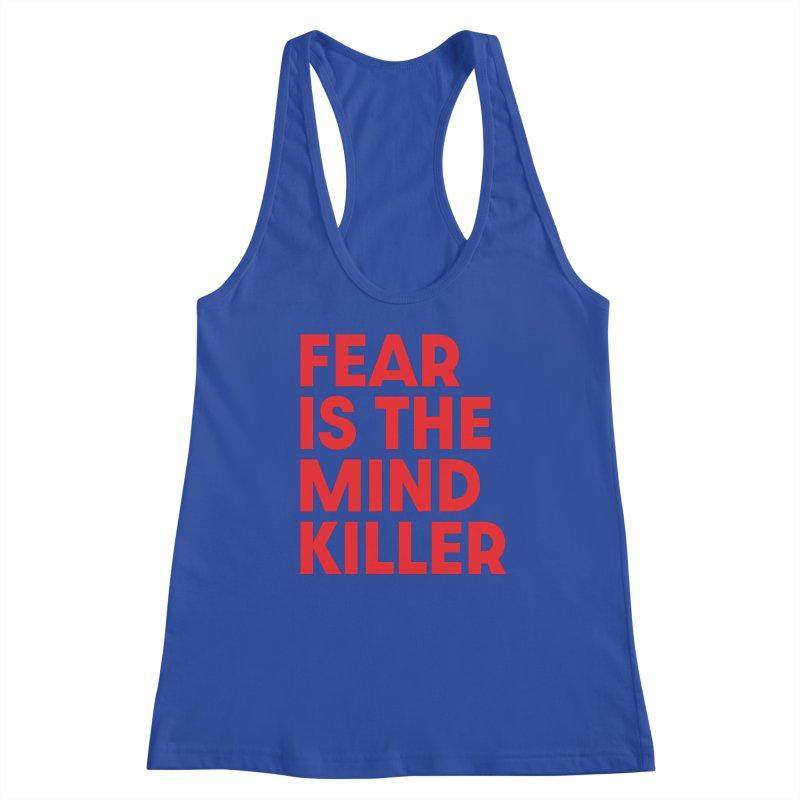 FEAR IS THE MIND KILLER (rd) Women's Racerback Tank by VOID MERCH