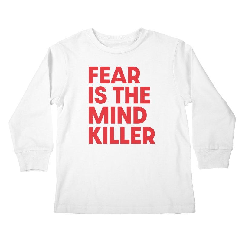 FEAR IS THE MIND KILLER (rd) Kids Longsleeve T-Shirt by VOID MERCH