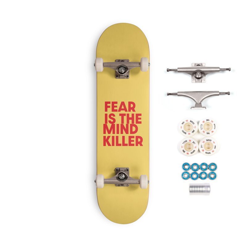 FEAR IS THE MIND KILLER (rd) Accessories Complete - Premium Skateboard by VOID MERCH