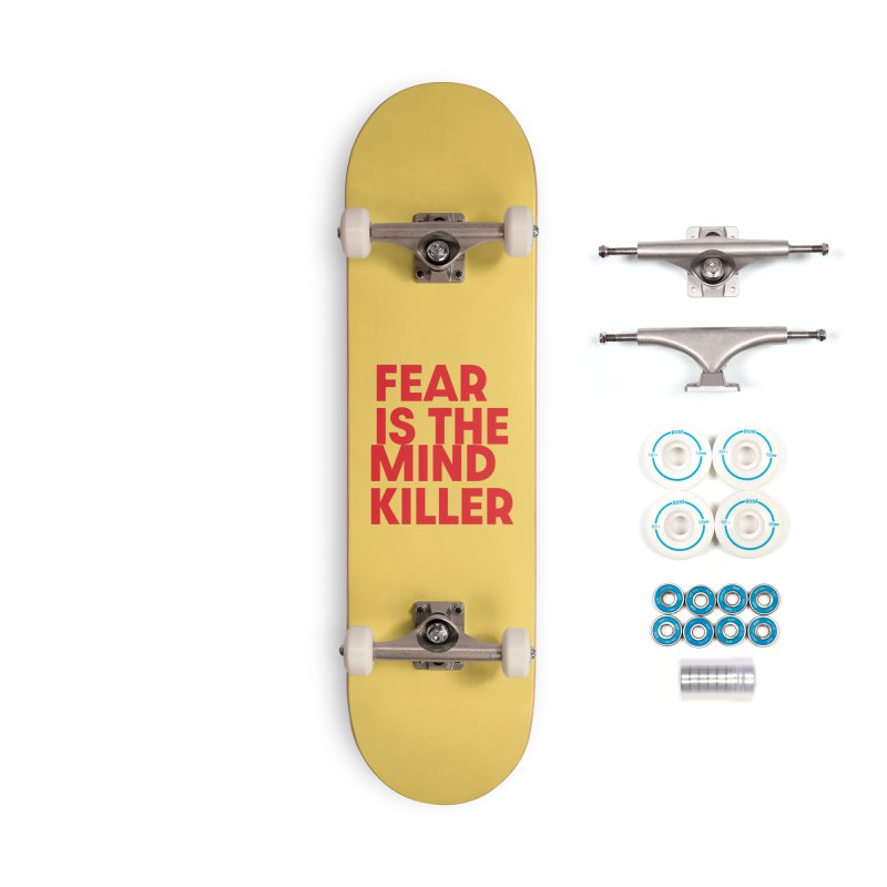 FEAR IS THE MIND KILLER (rd) Accessories Complete - Basic Skateboard by VOID MERCH