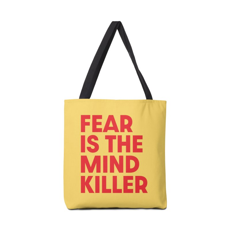 FEAR IS THE MIND KILLER (rd) Accessories Tote Bag Bag by VOID MERCH