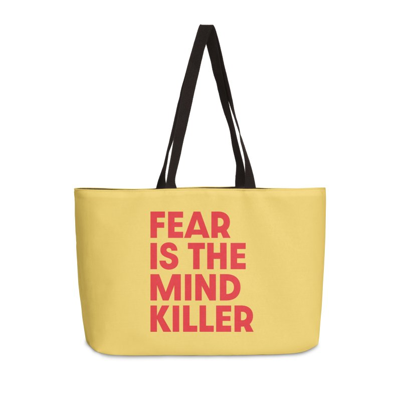 FEAR IS THE MIND KILLER (rd) Accessories Weekender Bag Bag by VOID MERCH