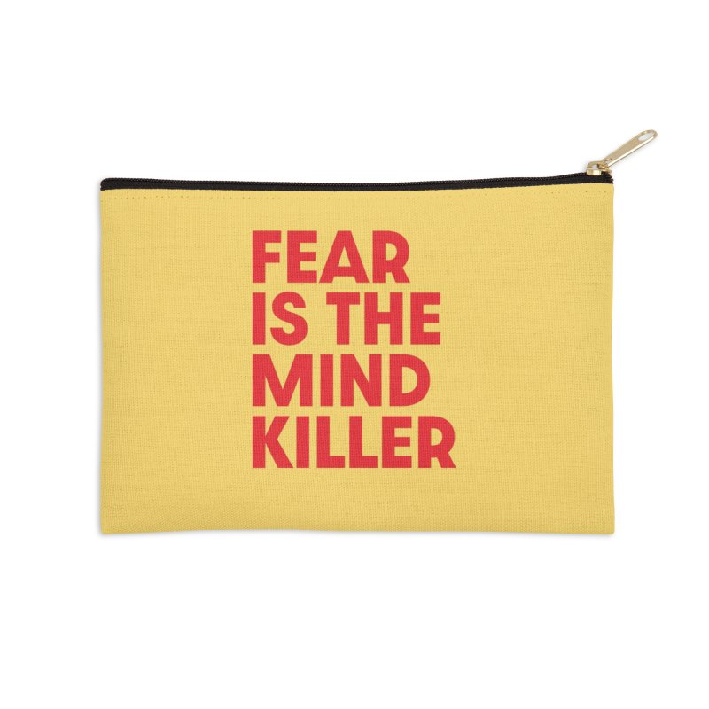 FEAR IS THE MIND KILLER (rd) Accessories Zip Pouch by VOID MERCH