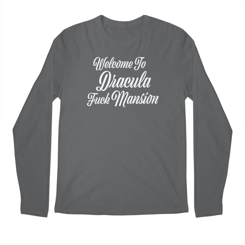 DRACULA FUCK MANSION Masc Longsleeve T-Shirt by VOID MERCH