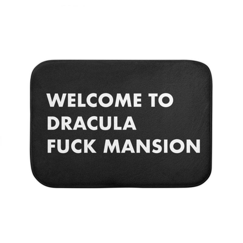 DRACULA FUCK MANSION (SANS) Home Bath Mat by VOID MERCH