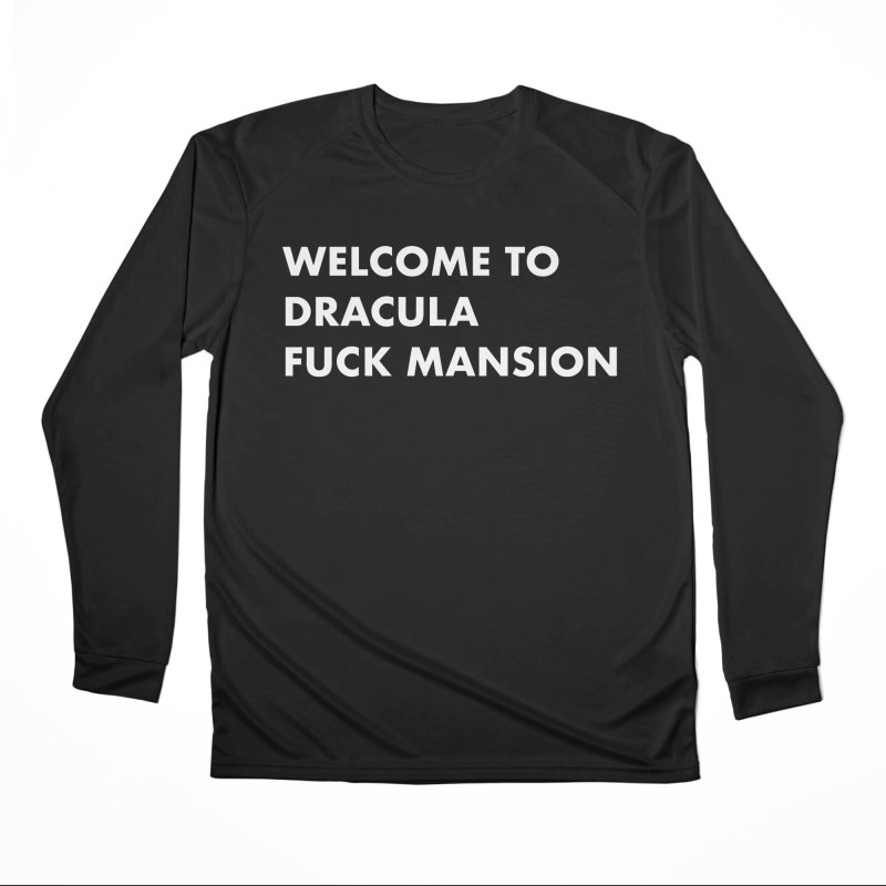 DRACULA FUCK MANSION (SANS) Femme Longsleeve T-Shirt by VOID MERCH
