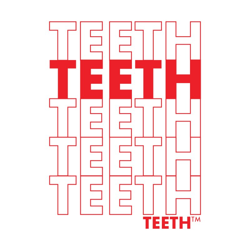 TEETH TEETH TEETH TEETH (rd) Masc Longsleeve T-Shirt by VOID MERCH