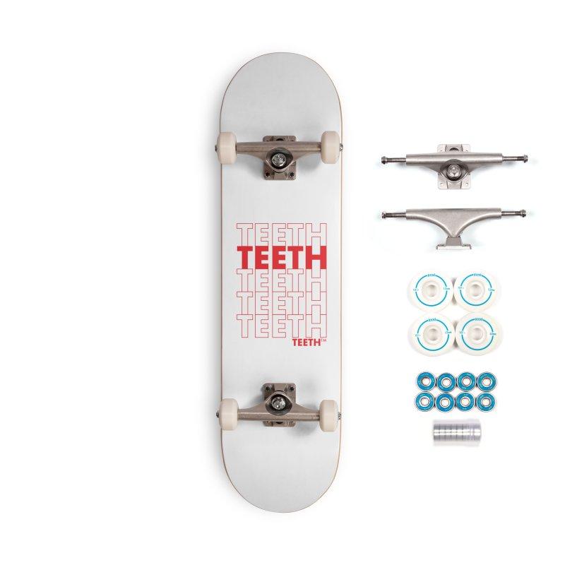 TEETH TEETH TEETH TEETH (rd) Accessories Skateboard by VOID MERCH